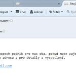 Máte nový e-mail: Drahá pšítel…